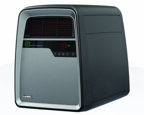 Lasko COOL TOUCH Infrared Quartz Heater with All NEW SmartSave Function, Features Silent Blower Operation with Multi Heat Options, Safety Tip-Over and OverHeat Protection, Recessed Castor Wheels & Remote Control Included