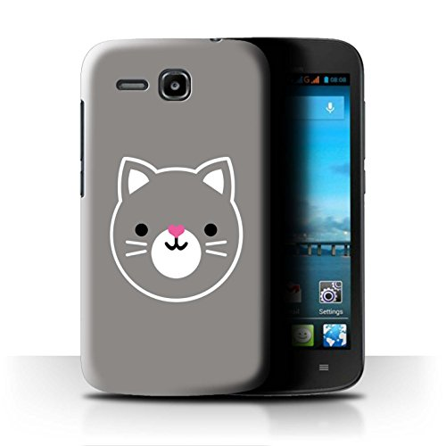 Stuff4 Hülle/Hülle für Huawei Ascend Y600 / Katze/Kätzchen Kunst Muster/Niedliche Minimalistische Tiere Kollektion