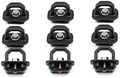 Hook Rings for 2007-2018 Chevrolet Silverdo//2015-2018 Colorado 2007-2018 GMC Sierra//2015-2018 Canyon AEagle 1000 Pound Truck Bed Side Wall Tie Down Anchors 4 Pcs