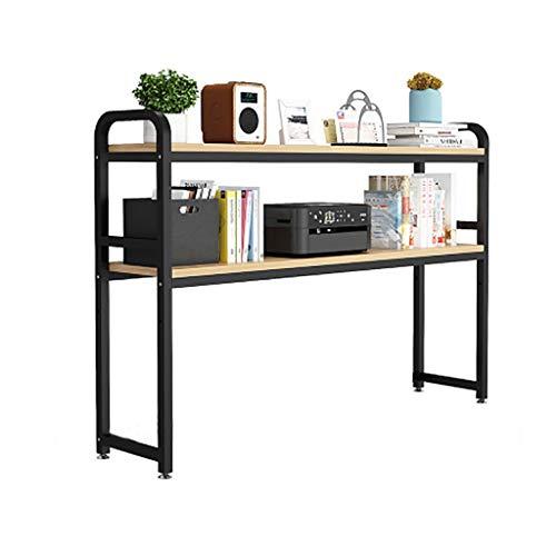 Pequeño escritorio con soporte de mesa, escritorio estante de libros, de revistas, montado en rack de almacenamiento de escritorio, de escritorio bookshel ( Color : E1 , Size : L115CM*W25CM*H90CM )