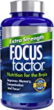 Focus Factor Extra Strength - Memory, Concentration & Focus - DMAE, Vitamin D, DHA, Bacopa & Much More - Trusted Clinically Tested Brain Health Supplement (120 Count)