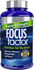 HIGH POTENCY FORMULA - Focus Factor Extra Strength is an advanced formulation that improves memory, concentration and focus. Focus Factor Extra Strength takes the original, clinically tested Focus Factor formula and increases the level of key selecte...