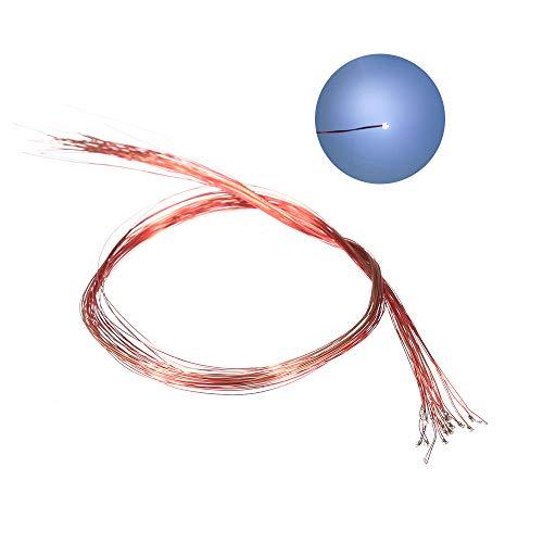 Fesjoy 20 Pezzi 0402 3V 220mm Pre-saldati M-icro Litz Cavi cablati S-MD Lampada L-ED Modello Materiale Fai da Te Luce (Filo smaltato 0,12 mm)
