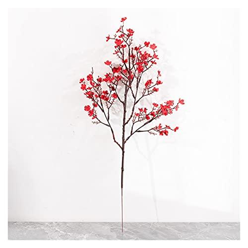 JSJJAES Flores Artificiales Gypsophila Rama Artificial Falso Falso Falso Flowers Ramo Largo Decoración de la Boda (Color : 1)