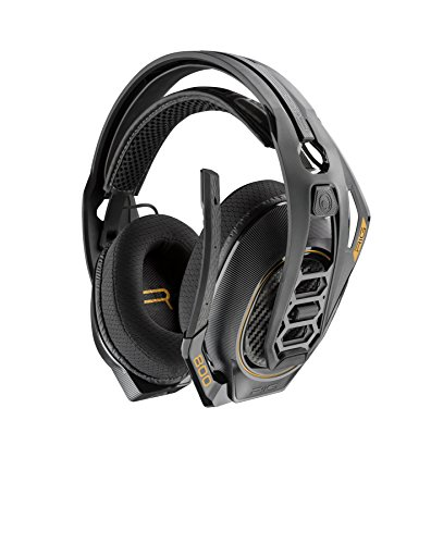 Plantronics RIG 800HD, kabelloses Gaming-Headset DOLBY Atmos, schwarz, gelb ,25