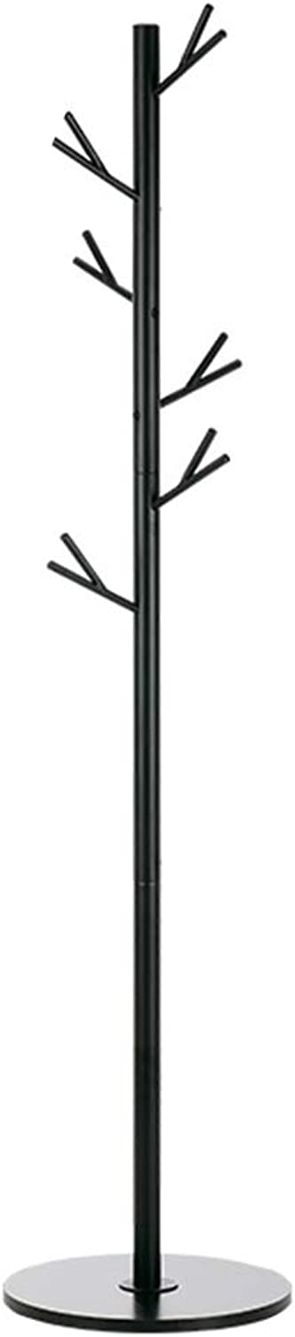 ZHBWJSH Multifunctional Coat and Hat Rack Freestanding Clothes Scarf Hook Home Office Garage Foyer (173cmX40cm) Black