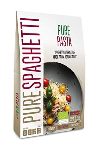 PurePasta Bio - Konjakpasta - Spaghetti, Nudeln, Reis, Fettuccine - Paket mit 10 (Spaghetti)