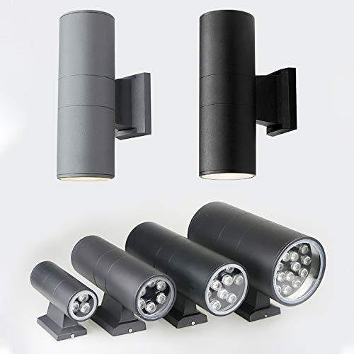 Lámpara de Pared LED lámpara de Pared Exterior Impermeable Moderna Minimalista Arriba y Abajo luz Doble Cabeza lámpara de Pared Aluminio Patio jardín Exterior lámpara de Pared