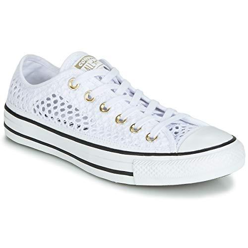 Converse,CTAS OX White/Black 565495C, Zapatillas Mujer
