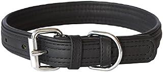 Rogz Leather Buckle Dog Collar, Black, Large