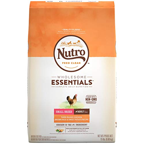 NUTRO WHOLESOME ESSENTIALS Natural Adult Small Breed Dry Dog Food Farm-Raised Chicken, Brown Rice &...