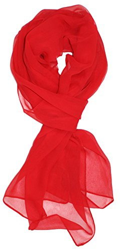 Ted and Jack - Solid Silk Lightweight Accent Scarf in Red