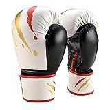 Juego de guantes de boxeo para niños de 6 onzas | Guantes de boxeo para niños | Guantes de MMA | 6 a 12 años | Muay Thai | Taekwondo | Sanda Fight | Rojo Blanco Negro Azul