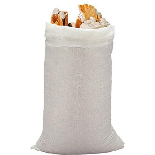 x10 Sacos de escombros rafia • Bolsa saco de recogida reforzada y resistente • Más de 25kg • Grande 80x50cm • 10 unidades