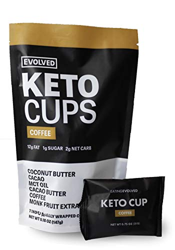 Evolved Chocolate - Coffee Keto Cups - 7 pack
