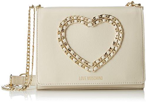 Love Moschino Borsa Vitello Bottalato Avorio, Sacs portés épaule femme, Blanc (Ivory), 6x17x22 cm (B x H T)