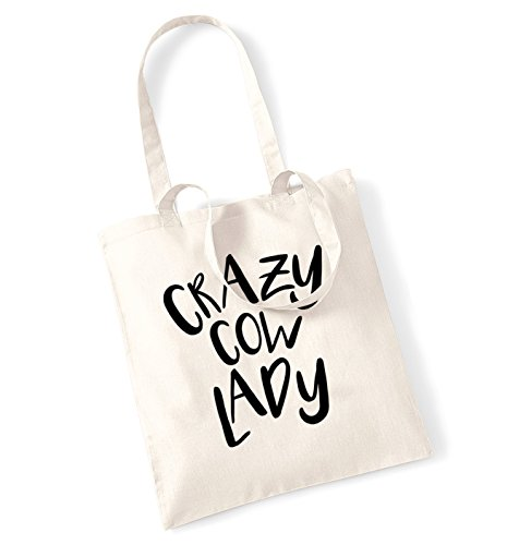 Crazy cow lady tote bag