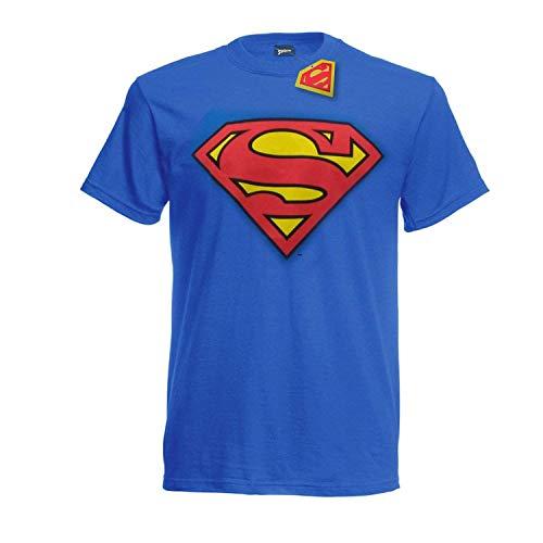 T-Shirt Logo Superman Super Eroe DC Comics Maglia Maglietta – Ufficiale Originale Warner Bros (XX-Large)