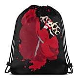 WH-CLA Cinch Bags Game Persona 5 Takamaki Anne Gym Lightweight Sport Cinch Bags Drawstring Bags Storage Unique Print Party Goodie Bags Drawstring Backpacks Anime Wrapping Gift Bag Durabl