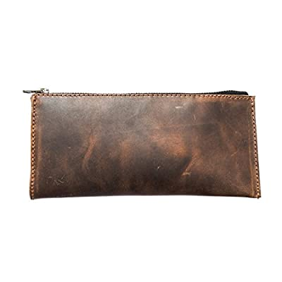 Femme Leather Wallet Cell Phone and Card Case Purse Handmade by Hide & Drink :: Bourbon Brown