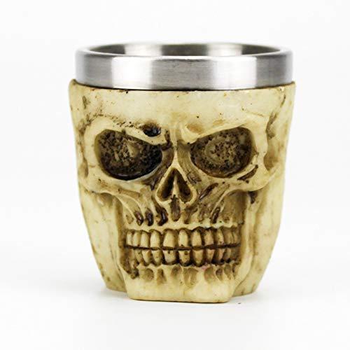 BAYUE 3D Skull Cup Mokken Stijl Bevat Schedel Viking Piraat Gotische Witte Geest Whiskey Sap Mokken BESTE Dirthday