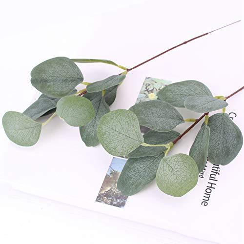 20PCS Artificial Eukalyptus Zweige Pflanzen Silver Dollar Blätter Spray Grün Bushes Gefälschte ausgesät Stängel, Artificial Silver Dollar Eucalyptus gefälschte Blätter Zweige Künstliche Eucalyptus