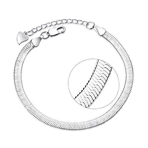 DGFGCS Ladies silver bracelet 925 Sterling Silver Fashion Snake Chain Ladies`Bracelets Women Jewelry Female Bracelet Gift Girl