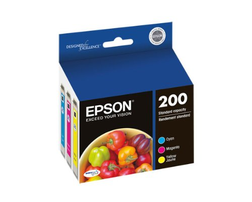 Epson Expression Home XP-200 3-Color Ink Combo Pack (OEM) 165 Pages Ea.