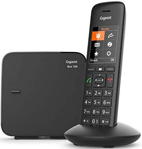 Gigaset C570 schnurloses Telefon (ohne Anrufbeantworter, Komfort mit großer Nummernanzeige, DECT-Telefon mit Farbdisplay, einfache Bedienung) schwarz