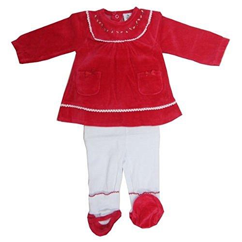 3 pièces bébé fille Ensemble de déguisement Père Noël avec broderie – 3 mois