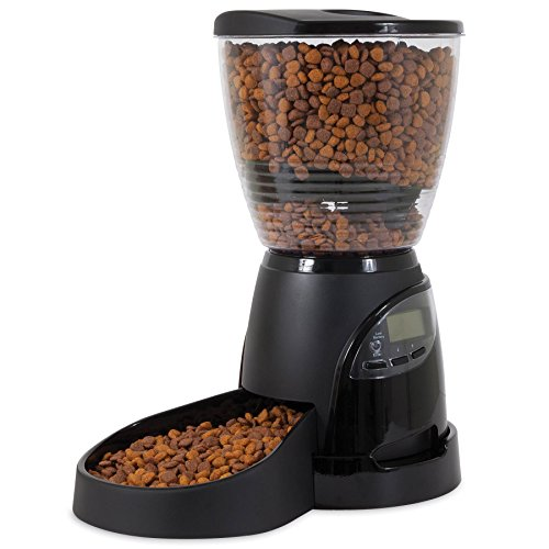 Aspen Pet Lebistro Programmable Cat and Dog Feeder 2 Sizes Black