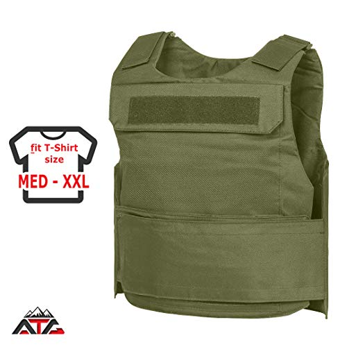 "WarTechGears Discreet Vest MED-2XL 11""X14"" Fully Adjustable Law Enforcement (Green)"