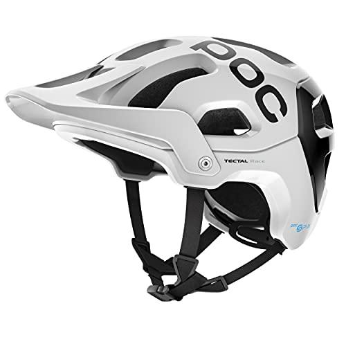 POC Tectal Race SPIN Casco Ciclismo Unisex Adulto, Hydrogen White/Uranium Black, XL-XXL (59-62cm)
