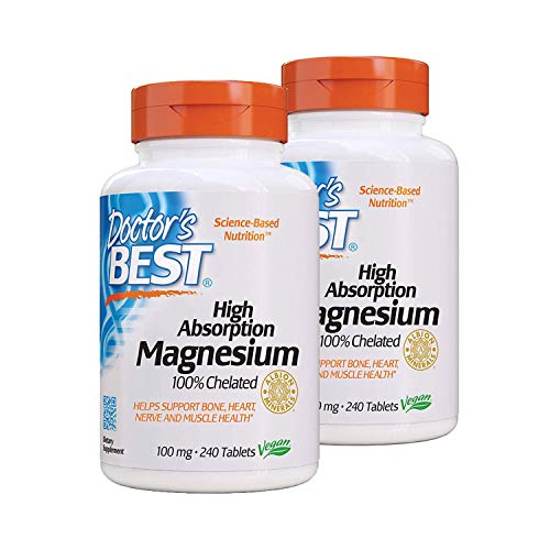 Doctor's Best High Absorption Magnesium (100 mg) - 240 ct (Pack of 2)