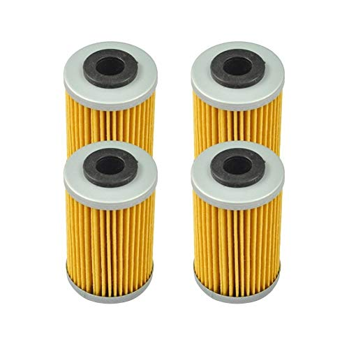 Furong 4 Stück Motorrad-Ölfilter fit for KTM 125 200 390 620 690 Duke RC 250 400 EXC Racing 520 525 620 450 625 640 660 SXC Super