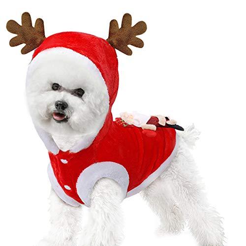 Goldmik - Disfraz de Papá Noel para perro, para Navidad, divertido invierno cálido,...