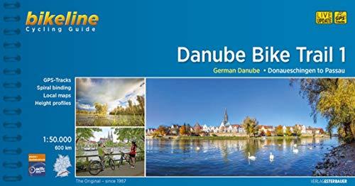 Cycling Guide Danube Bike Trail 1: Part 1: German Danube. From Donaueschingen to Passau. 1:50.000, 600 km