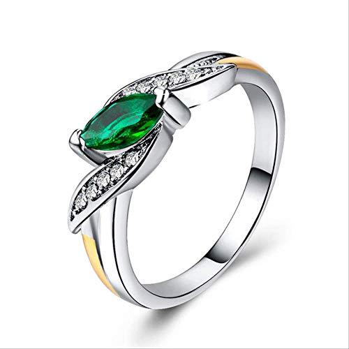 IWINO Trendy zilveren 925 sieraden ring voor vrouwen Olijfvormige edelstenen Ruby Amethyst Emerald Sapphire Maat6,7,8,9,10 Feest