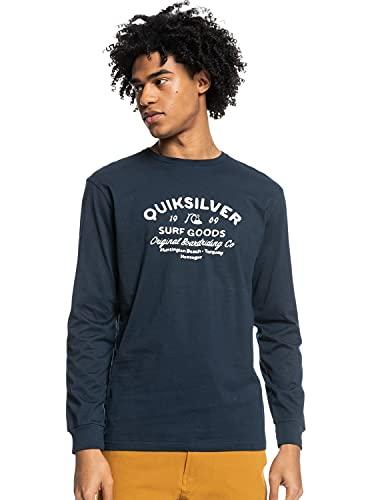 magliette uomo quiksilver Quiksilver™ Closed Tion - Maglietta a Maniche Lunghe - Uomo - M-