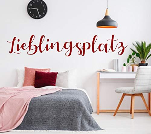 Wandschnörkel® Wandtattoo AA802 WandAufkleber LIEBLINGSPLATZ Wohnzimmer Schlafzimmer