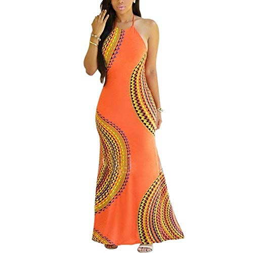 Ook zomerjurk damesrok bedrukt lange mouwloze jurk met bandjes