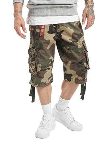 Alpha Industries Herren Shorts Jet Camouflage W 34