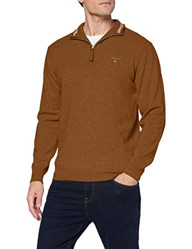GANT Herren Superfine Lambswool Half Zip Pullover, Butternut Melange, 5XL