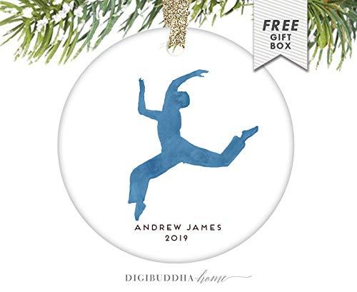 Yilooom Jongen Notenkraker Ornament, Gepersonaliseerde Ballet Notenkraker Ballet Kerstmis Ornament Baby's First Boy Dancer Ornament Jongen Ballerina Mannelijk Ballet - 3