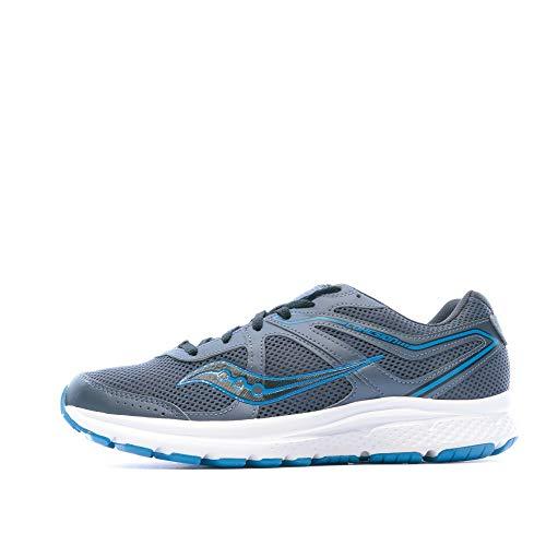 Saucony Men's Cohesion 11 Running Shoe, Grey/Blue, 12 Medium US