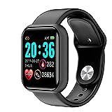 Reloj inteligente, pantalla táctil de 1,3 pulgadas, monitor de actividad con pulsómetro, reloj de pulsera de fitness IP67 resistente al agua, reloj deportivo inteligente con podómetro