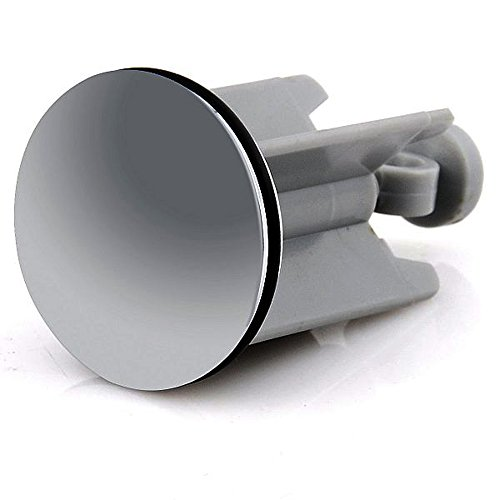 M&H-24 8 Stück Waschbecken-Stöpsel Waschbecken-Stopfen mit Haarfänger-Kette, passend für alle handelsüblichen Waschbecken 40mm hochwertige Qualität
