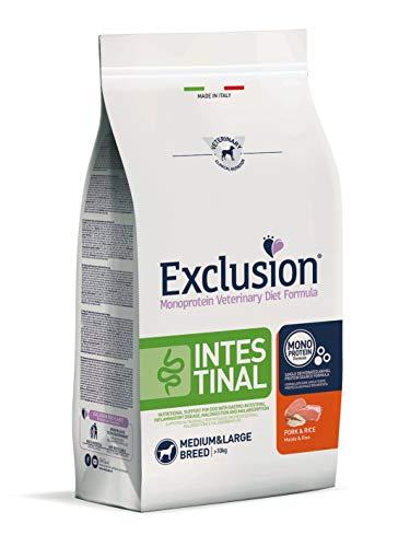 Exclusion Intestinal Medium/Large con Maiale E Riso per Cani, 12 kg