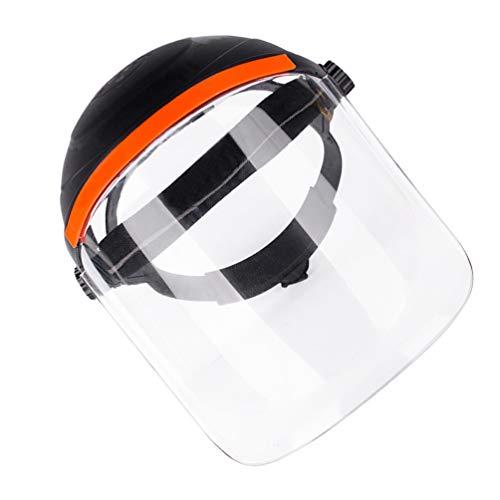 KESYOO Schutzhelm mit Visier Vollschutzkappe Visier Gesichtsschild Handwerk Industrie Arbeitskleidung Zubehör Schweißen Schutzschild Gesichtsabdeckung