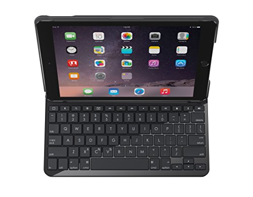 Logitech Slim Folio Bluetooth QWERTY Español Negro Teclado para móvil - Teclados para móviles (Negro, Resistente al Polvo, Resistente a rayones, Apple, iPad, QWERTY, Español)